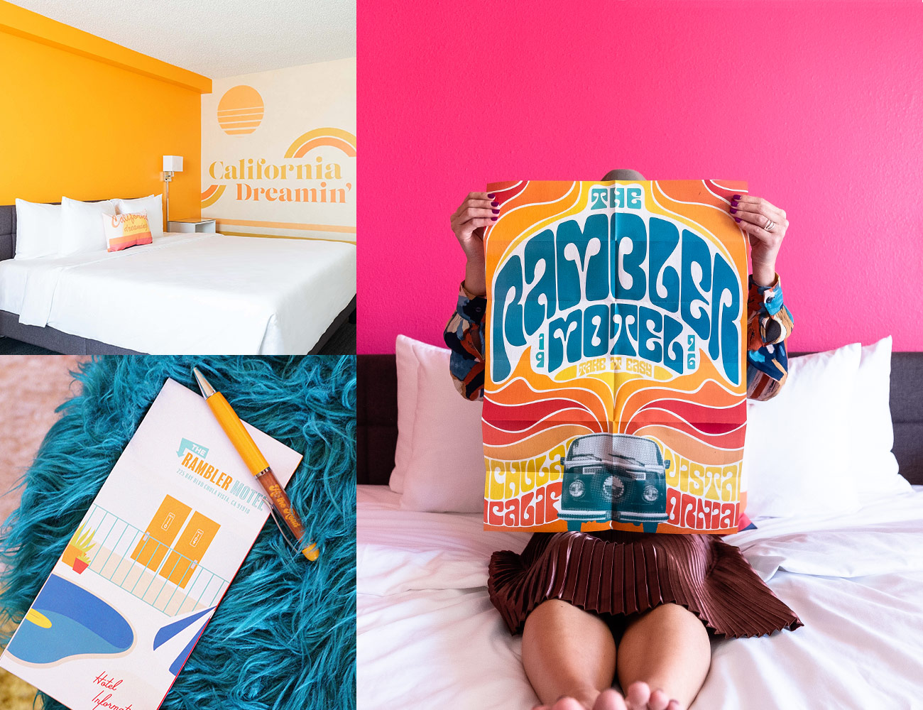 Rambler guest room with California Dreaming wall art