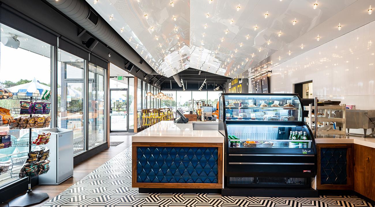 Rambler Coffee's retro interior design